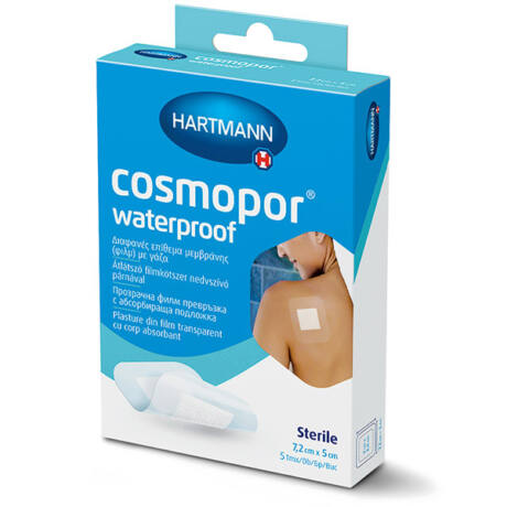 Cosmopor vízálló steril sebtapasz 7,2cmx5cm (5x)