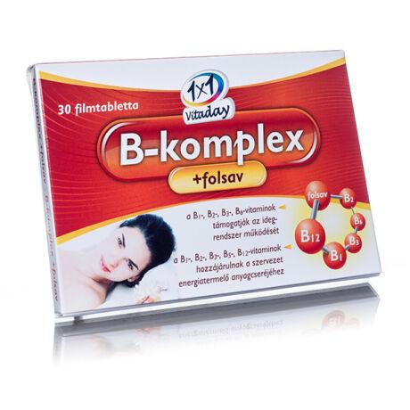 1x1 B-komplex + folsav tabletta 30x
