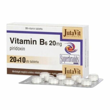 JutaVit B6-vitamin 20mg tabletta (30x)