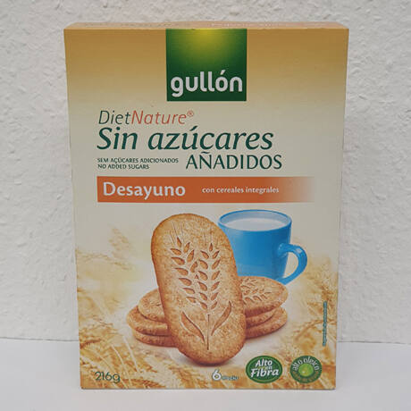 Gullon diabetikus többgabonás reggeli keksz 216g