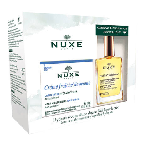 Nuxe Creme Fraiche szett - 48 órás hidratáló arckrém csomag száraz bőrre