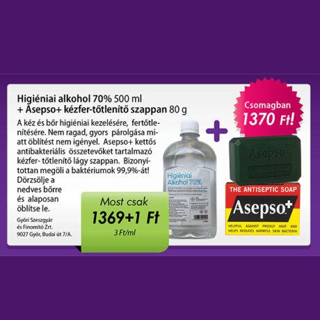 Higiéniai alkohol + Asepso kézfertőtlenítő szappan csomag