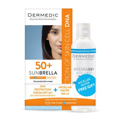 Dermedic Sunbrella Fényvédő arckrém SPF50+ zsíros/komb bőrre 50g