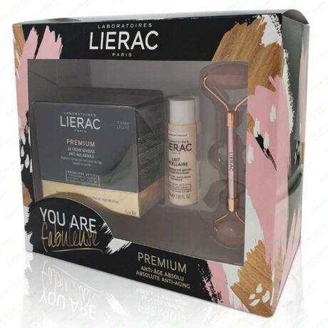 Lierac Premium Voluptous Szett  +ajándék rózskvarc roller
