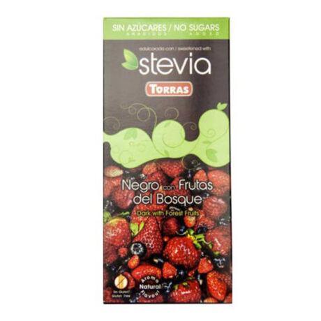 Torras Stevia erdei gyümölcsös étcsokoládé 125g
