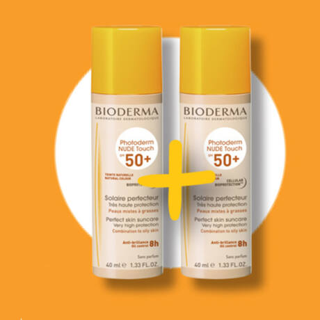 Bioderma Photoderm Nude Touch (naturel) 1+1 csomag