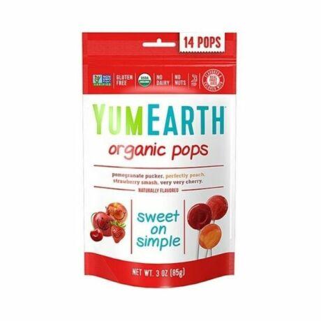 YumEarth organikus nyalóka gyümölcsös 14x (85g)