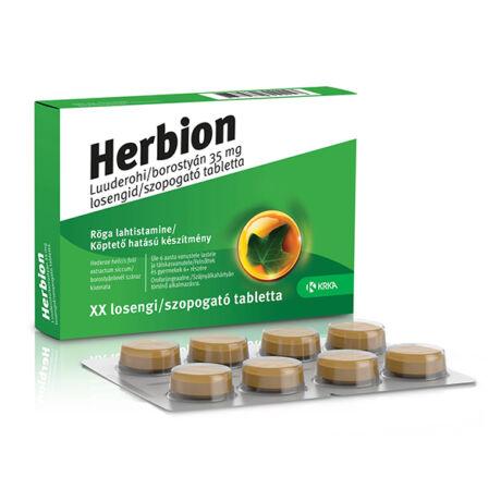 Herbion borostyán 35mg szopogató tabletta 24x