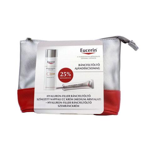 Eucerin Hyaluron-Filler Ráncfeltöltő csomag - színezett (világos) arckrémmel