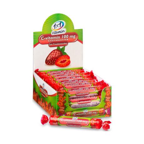 1x1 Vitaday C-vitamin  100 mg rágótabletta eper (17x)