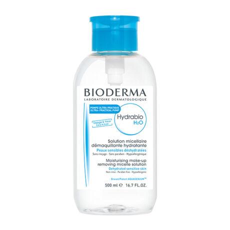 Bioderma Hydrabio H2O arc- és sminklemosó pumpás 500ml
