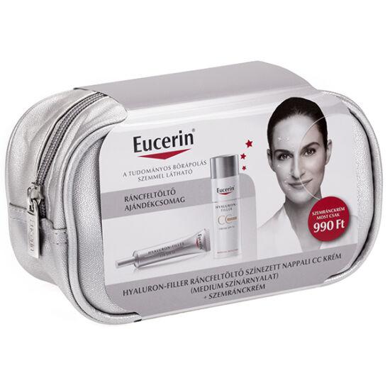 Eucerin Hyaluron-Filler Ráncfeltöltő csomag - színezett (medium) arckrémmel