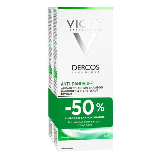Vichy sampon DERCOS korpás/száraz hajra DUO (2x200ml)