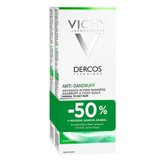 Vichy sampon DERCOS korpás/zsíros hajra DUO (2x200ml)