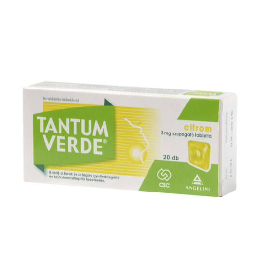 Tantum Verde citrom 3 mg szopogató tabletta 20x