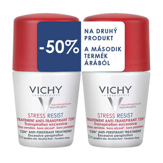 Vichy deo golyós izzadásgátló Stress Resist 72h DUOPACK