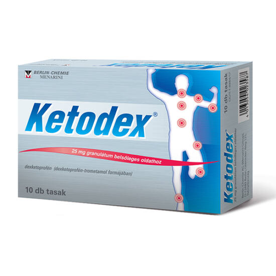 Ketodex 25 mg granulátum bels?leges oldathoz 10x