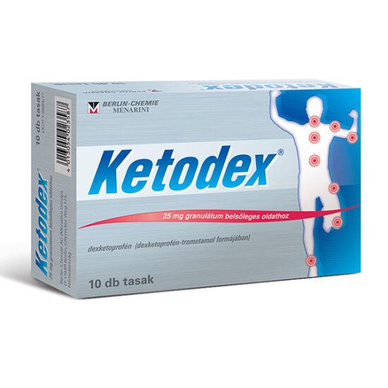 Ketodex 25 mg granulátum bels?leges oldathoz 20x