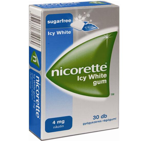 Nicorette Icy White gum 4 mg gyógyszeres rágógumi