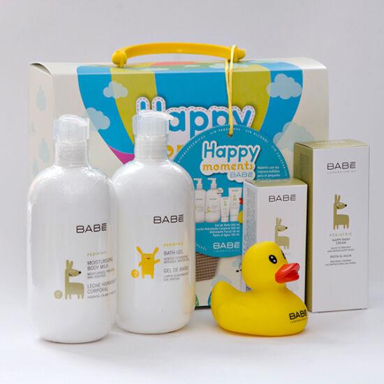 Babé Baba útitáska csomag - testápoló, fürdető, popsikrém, arckrém +játék
