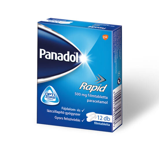 Panadol Rapid 500 mg filmtabletta 12x