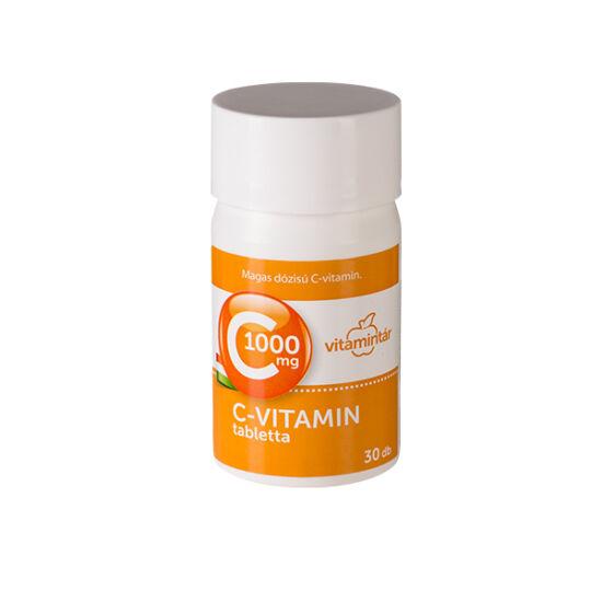Vitamintár 1000 mg C-vitamin tabletta 30x