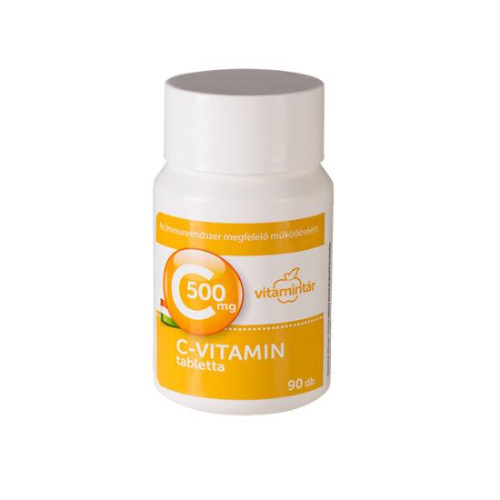 Vitamintár 500 mg C-vitamin tabletta 90x