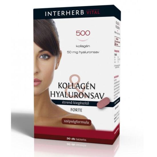 Interherb Kollagén & Hyaluronsav Szépségformula FORTE tabletta 30x