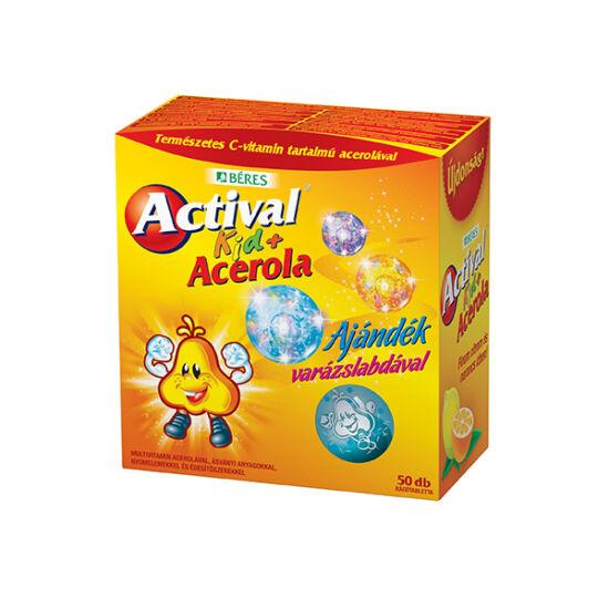 Actival Kid + Acerola rágótabletta + AJÁNDÉK varázslabda