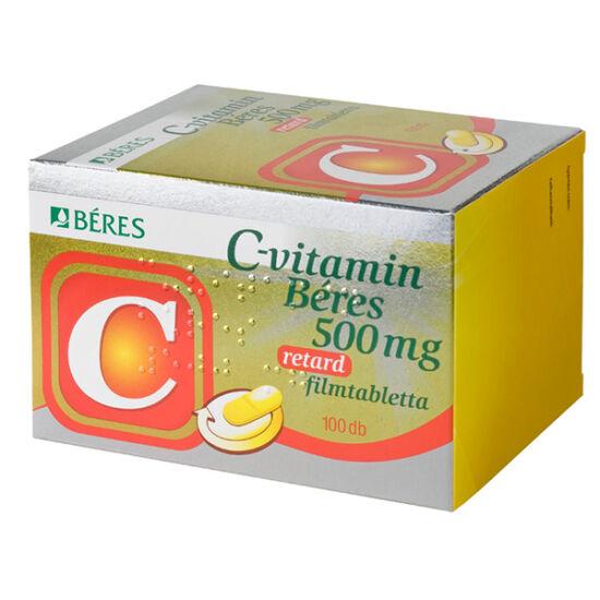 C-vitamin Béres 500 mg retard filmtabletta 100x