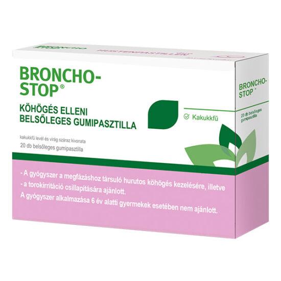 Bronchostop köhögés elleni gumipasztilla 20x