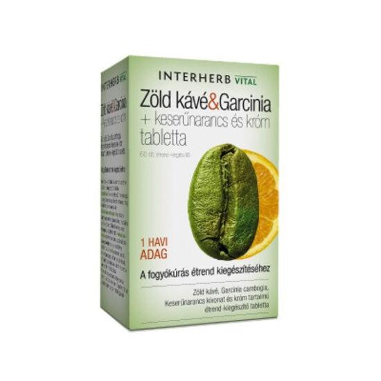 Vital Zöldkávé Garcinia INTERHERB tabletta 60x