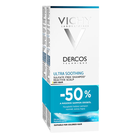 Vichy sampon DERCOS Ultra-soothing DUO (2x200ml)