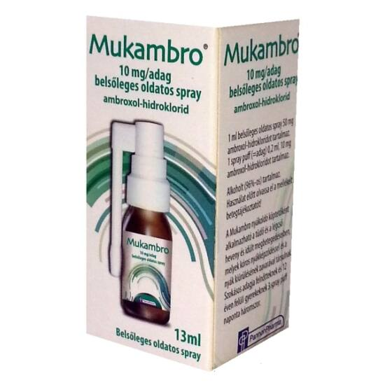 Mukambro 10 mg/adag belsőleges oldatos spray (13ml)