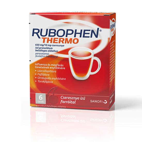 Rubophen Thermo 650mg/10mg gran. bels.oldathoz cseresznye 6x