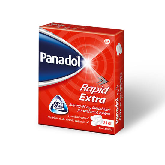 Panadol Rapid Extra 500mg/65mg filmtabletta 24x