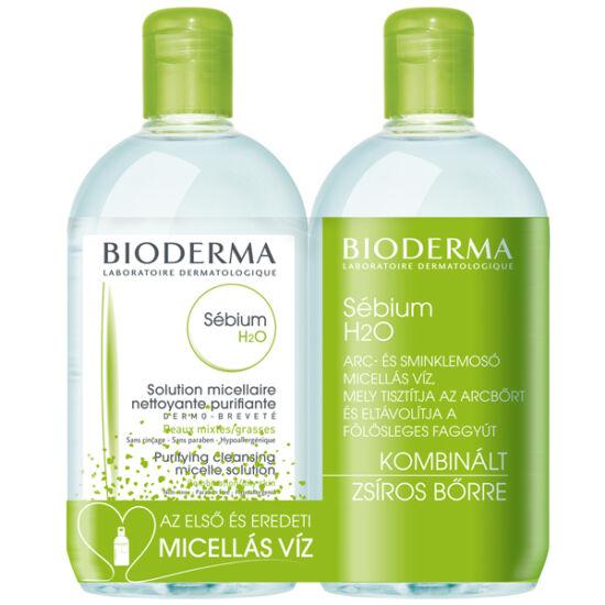 BIODERMA Sébium H2O mélytisztító zsíros bőrre DUO 2x250ml