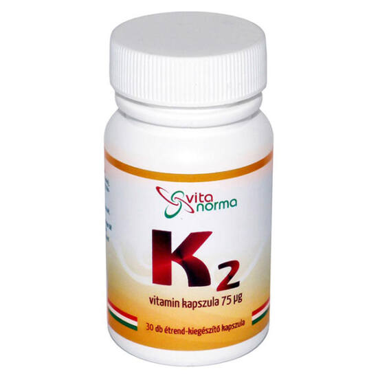 Vitanorma K2-vitamin 75 mcg kapszula 30x