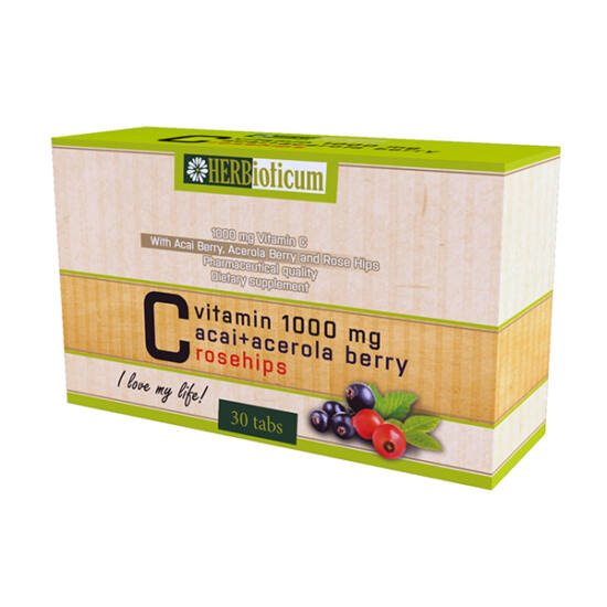 Herbioticum C-vitamin acai tabletta (30x)