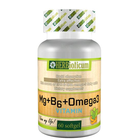 Herbioticum Mg+B6+Omega-3 lágy kapszula (60x)