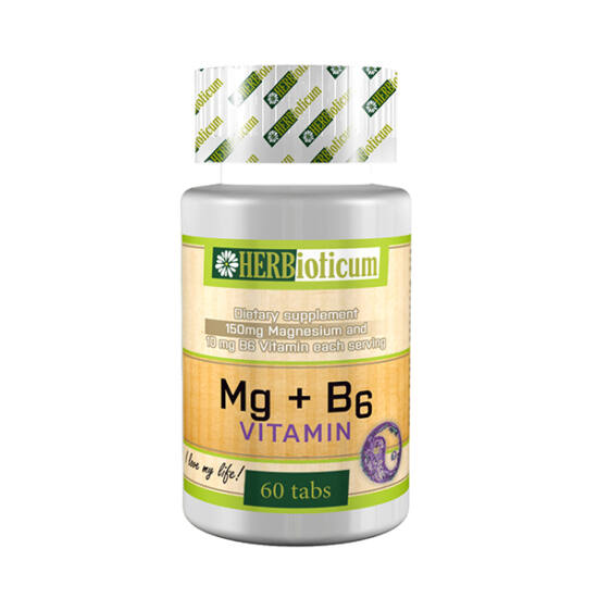 Herbioticum Mg+B6 vitamin tabletta (60x)