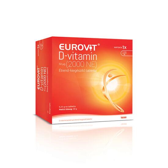 Eurovit D-vitamin 2000NE tabletta 120x