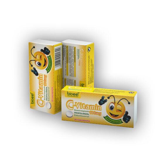 Bioeel C-vitamin 100mg rágótabletta propolisszal 20x