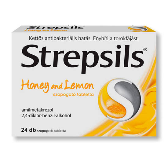 Strepsils Honey and lemon szopogató tabletta