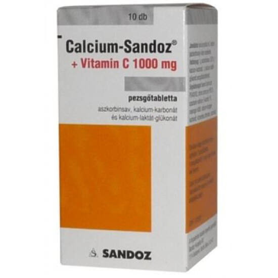 Calcium-Sandoz + Vitamin C 1000 mg pezsg?tabletta 10x