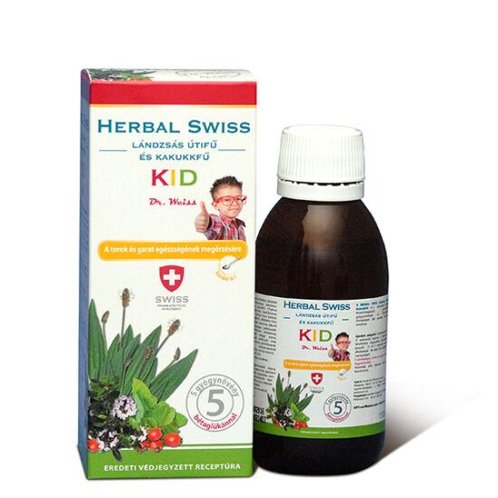 Herbal Swiss KID lándzsás útifű és kakukkfű szirup 150ml