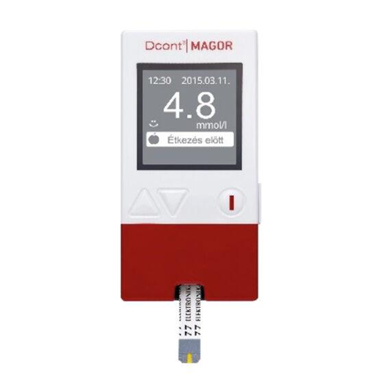DCont Magor vércukorszintmérő készülék bordó