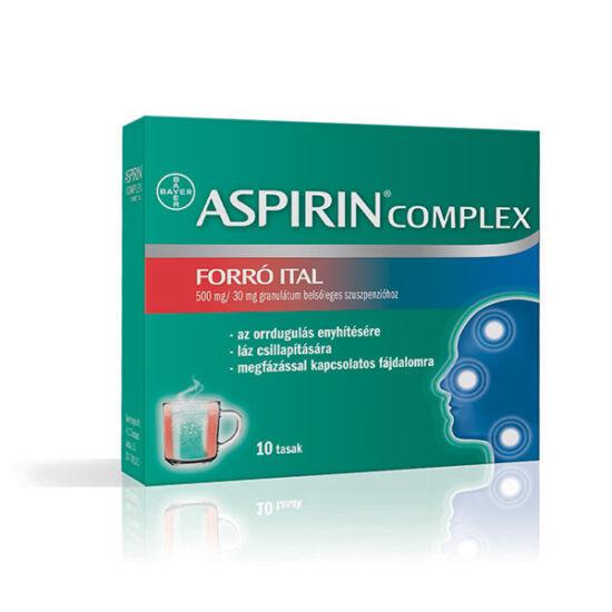 Aspirin Komplex forró ital 500mg/30mg  gran. szusz (10x)