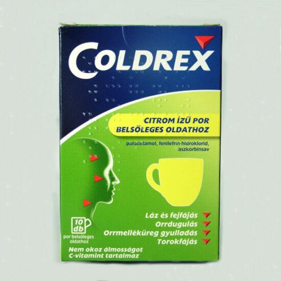 Coldrex citrom íz? por bels?leges oldathoz