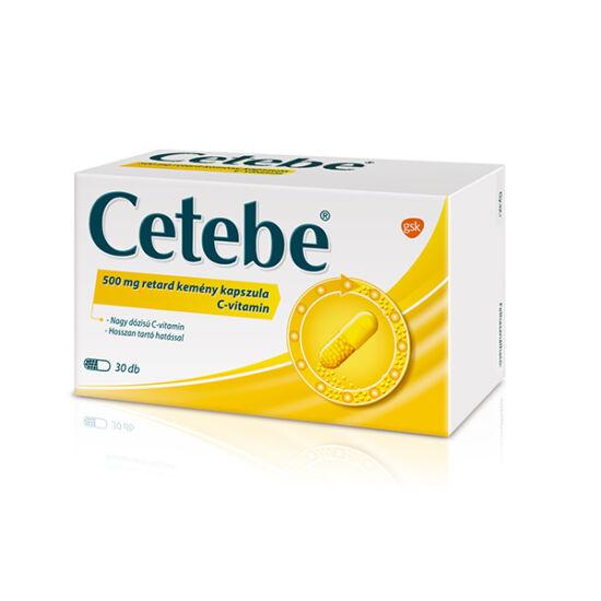 Cetebe 500 mg retard kemény kapszula 30x